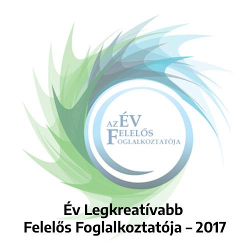 Év Legkreatívabb Felelős Foglalkoztatója – 2017 (OFA Országos Foglalkoztatási Közhasznú Nonprofit Kft.)